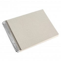 GOLDBUCH GOL-20723 spiral album BELLA VISTA Sand Grey, 23x17 cm, white pages
