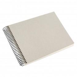 GOLDBUCH GOL-20723 spiral album BELLA VISTA Sand Grey, 23x17 cm, white pages