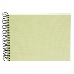 GOLDBUCH GOL-20724 spiral album BELLA VISTA Lime Green, 23x17 cm, white pages