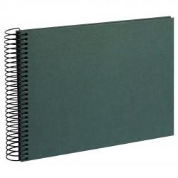 GOLDBUCH GOL-20748 spiral album HEMP dark green, black hemp paper, 23x17 cm