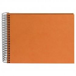 GOLDBUCH GOL-20749 spiral album HEMP terracotta orange, black hemp paper, 23x17 cm