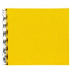 GOLDBUCH GOL-25371 spiral album BELLA VISTA Yellow, 34x30 cm, white pages