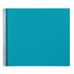 GOLDBUCH GOL-25363 spiral album BELLA VISTA Turquoise, 34x30 cm, white pages