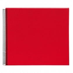 GOLDBUCH GOL-25373 spiral album BELLA VISTA Red, 34x30 cm, white pages