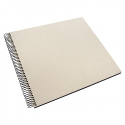 GOLDBUCH GOL-25523 spiral album BELLA VISTA Sand Grey, 35x30 cm, black pages