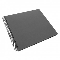 GOLDBUCH GOL-25525 spiral album BELLA VISTA Grey, 35x30 cm, black pages