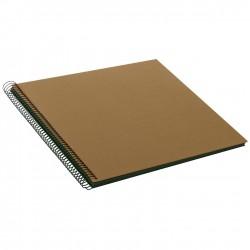 GOLDBUCH GOL-25716 spiral album BELLA VISTA Coffee Bronze, 35x30 cm, black pages