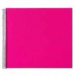 GOLDBUCH GOL-25964 spiral album BELLA VISTA Pink, 35x30 cm, black pages