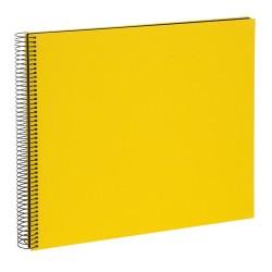 GOLDBUCH GOL-25991 spiral album BELLA VISTA Yellow, 35x30 cm, black pages