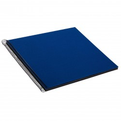 GOLDBUCH GOL-25996 spiral album BELLA VISTA Blue, 35x30 cm, black pages