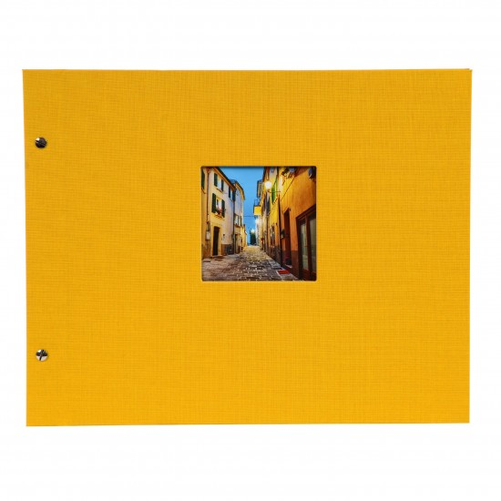 GOLDBUCH GOL-28971 Screw bound album BELLA VISTA Yellow 31x39 cm w. black pages