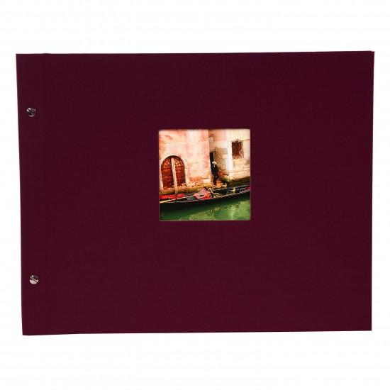 GOLDBUCH GOL-28984 Screw bound album BELLA VISTA Bordeaux 31x39 cm w. black pages