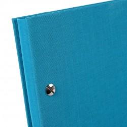 GOLDBUCH GOL-28973 Screw bound album BELLA VISTA Turquoise 31x39 cm w. black pages