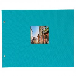 GOLDBUCH GOL-28973 Screw bound album BELLA VISTA Turquoise 31x39 cm w. black pages