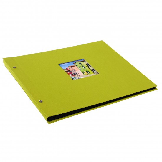 GOLDBUCH GOL-28976 Screw bound album BELLA VISTA Green 31x39 cm w. black pages