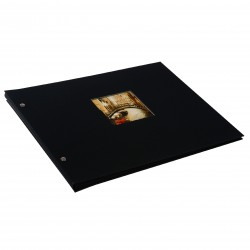 GOLDBUCH GOL-28977 Screw bound album BELLA VISTA Black 31x39 cm w. black pages