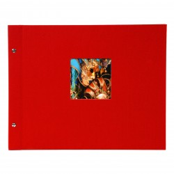 GOLDBUCH GOL-28984 Screw bound album BELLA VISTA Red 31x39 cm w. black pages
