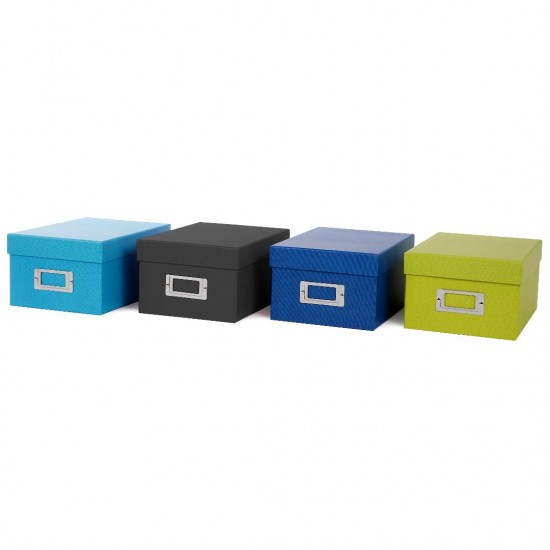GOLDBUCH GOL-85975 BELLA VISTA storage box for 700 photos - Blue