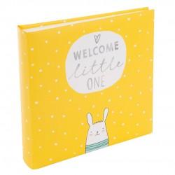 GOLDBUCH GOL-24180 kids album WELCOME LITTLE ONE yellow 25x25cm
