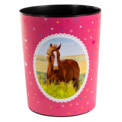 GOLDBUCH GOL-82291 paperbin HORSES pink