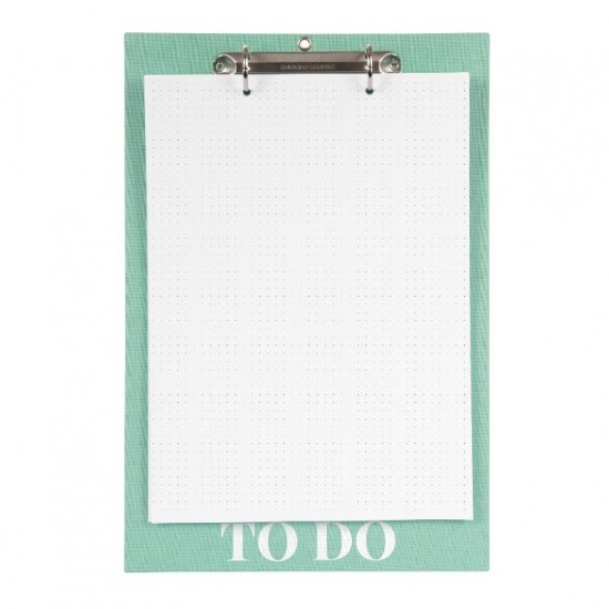 GOLDBUCH GOL-10593 Linum 2.0 A4 linnen NotePad with dotted paper aquablue - 2-rings