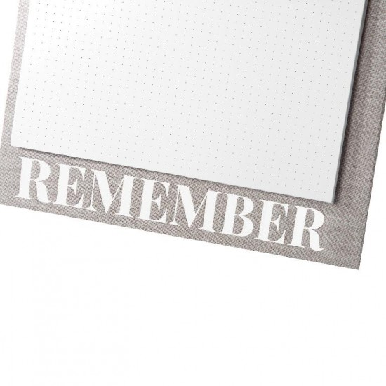 GOLDBUCH GOL-10599 Linum 2.0 A4 linnen NotePad with dotted paper grey- 2-rings