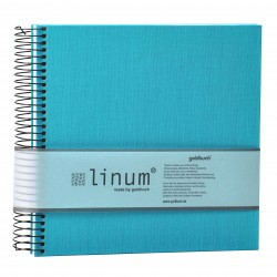 GOLDBUCH GOL-12918 spiral album LINUM Summer Time TREND 2 Turquoise as photo album