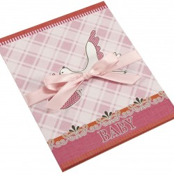GOLDBUCH GOL-68082 Baby Leporello STORK Pink