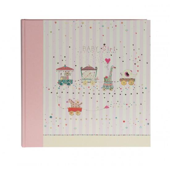 GOLDBUCH GOL-15417 Babyalbum ANIMAL TRAIN roze als Fotoboek