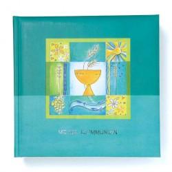 GOLDBUCH GOL-03298 Communie album aqua blauw als fotoboek met DUITSE TEKST