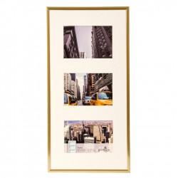 GOLDBUCH GOL-910327 Photo frame PURO Gold for 3x 10x15 cm gallery