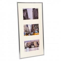 GOLDBUCH GOL-910427 Photo frame PURO Silver for 3x 10x15 cm gallery