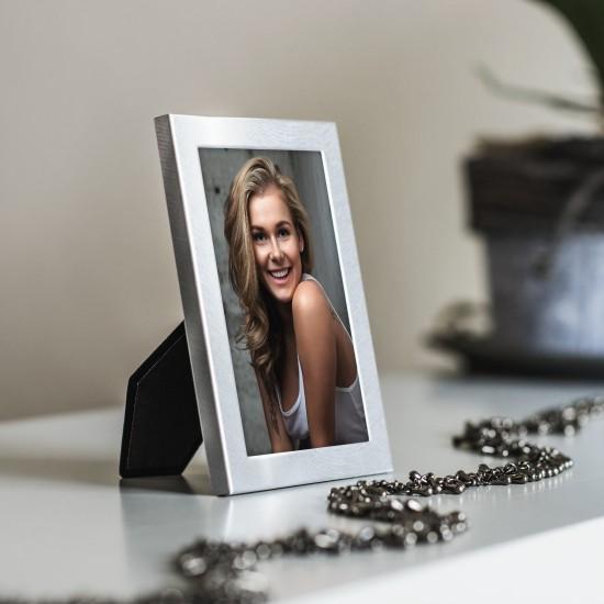 Hama Davos silver 10x15 portrait metal 65198