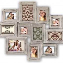ZEP - Multi Frame Galway grey for photos 2x 9x9 4x 9x13 3x 10x15 2x 13x18 measurements 68x59 cm - HA11K