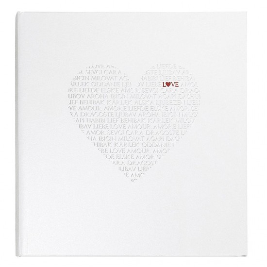 GOLDBUCH GOL-48080 Guest book LOVE white pearl