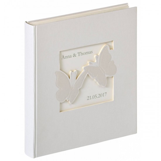 Walther Design UH-201 marriage album Farfalla 28x30.5, 50 white Pages