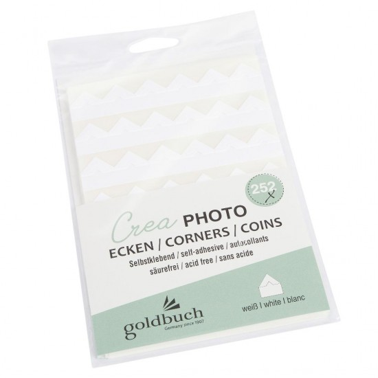 GOLDBUCH GOL-83082 Crea photo corners WHITE 252 pcs